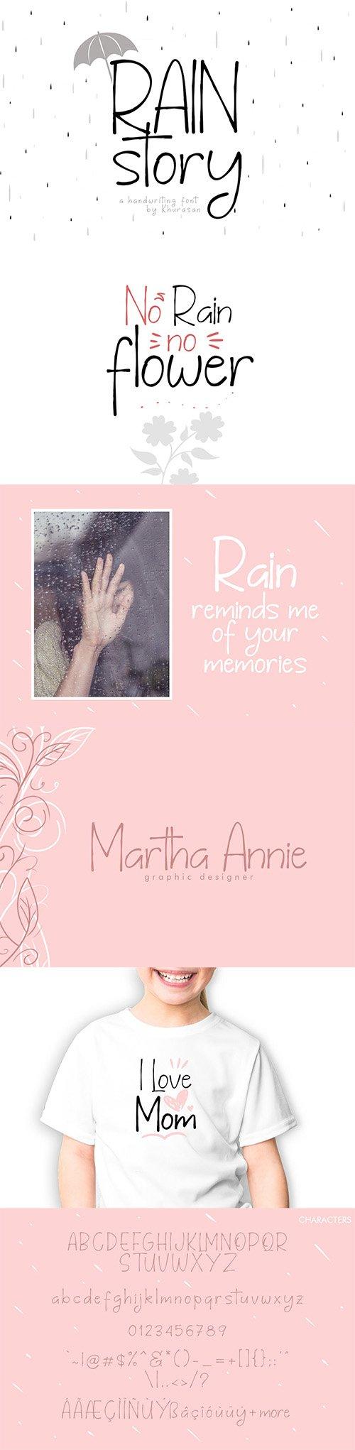 Rain Story Font