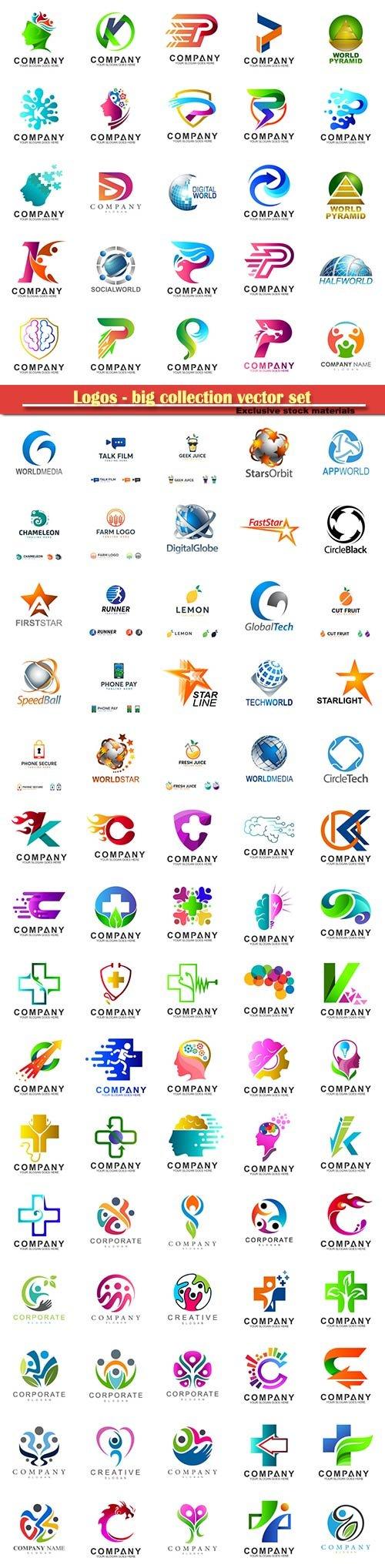 Logos - big collection vector set # 3