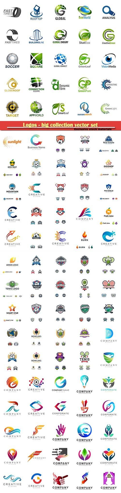 Logos - big collection vector set