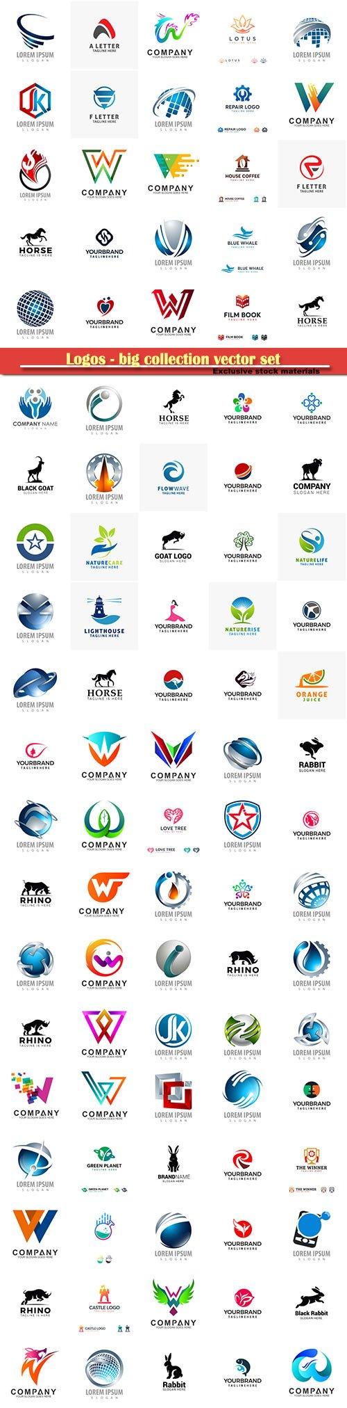 Logos - big collection vector set # 4