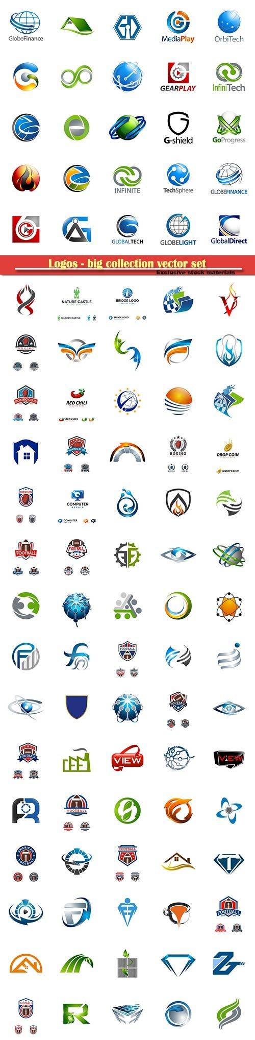 Logos - big collection vector set # 2