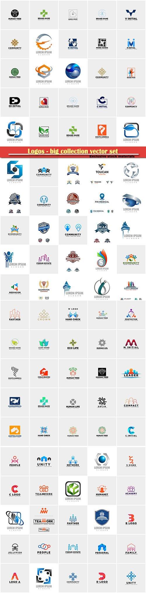 Logos - big collection vector set # 5