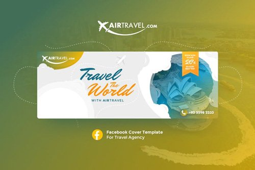 AirTravel - Facebook Cover Template