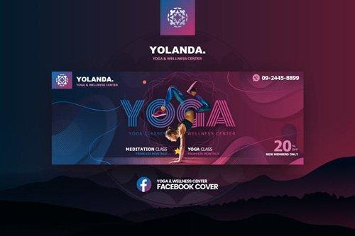 Yolanda-Yoga & Wellness Facebook Cover Template