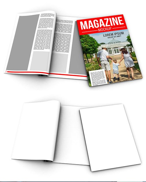 PSDT Open and Closed Magazines Mockup 257915016