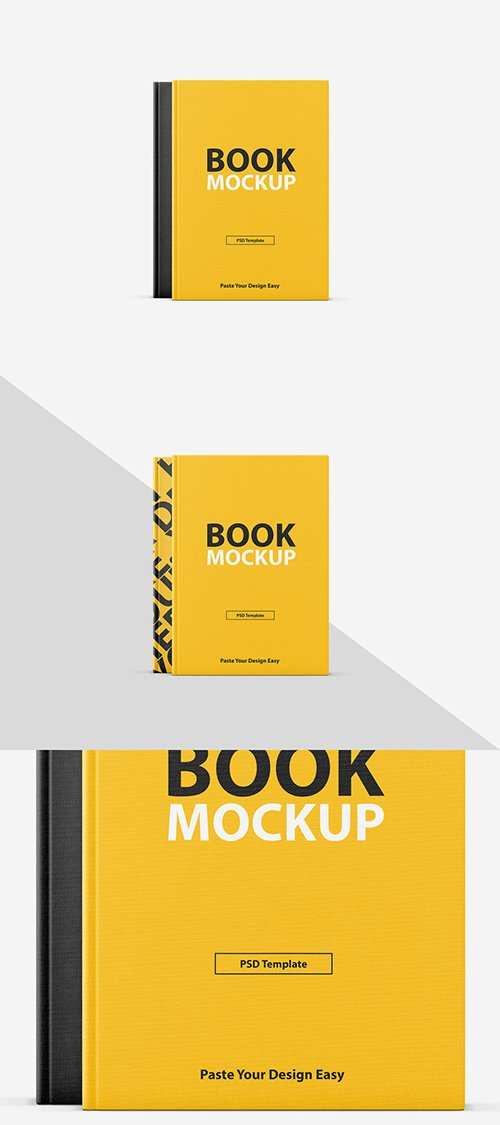 PSDT Textured Book Cover Mockup 257928192
