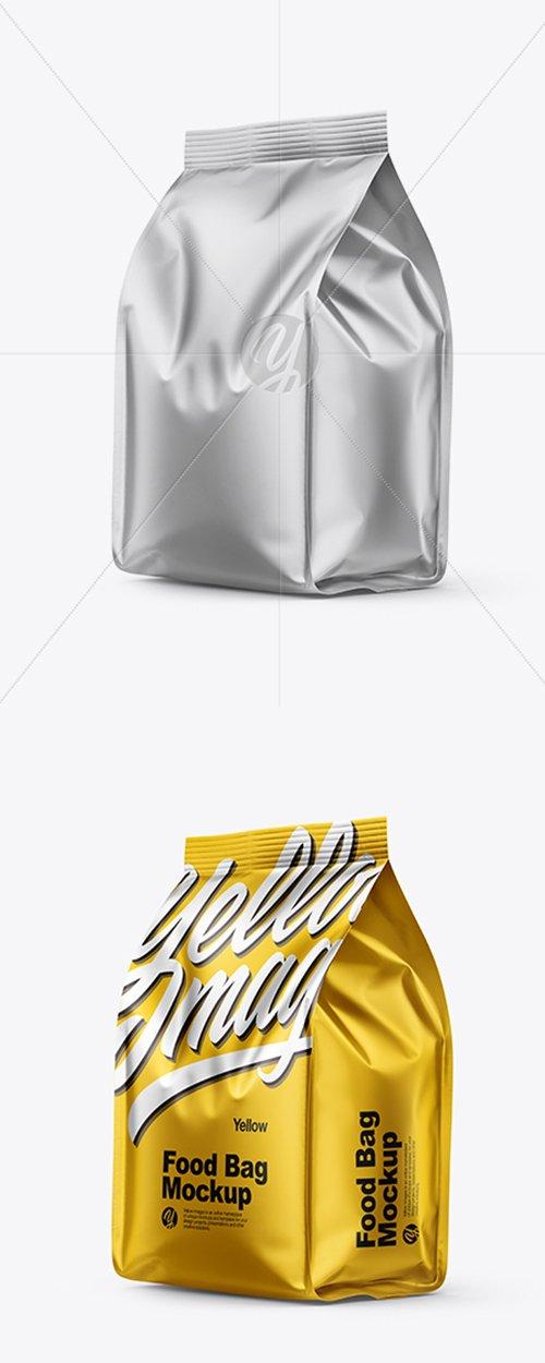 Matte Metallic Food Bag Mockup 38651 TIF
