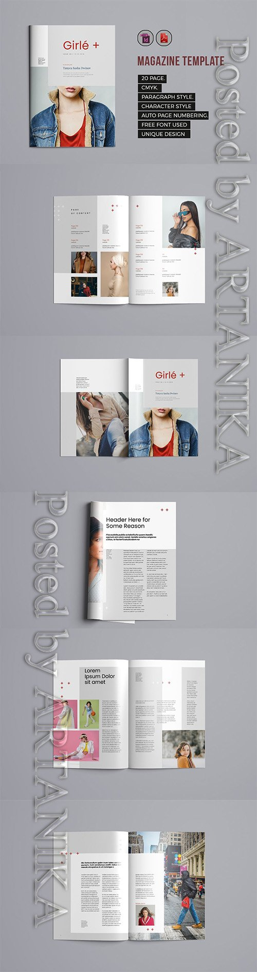 Indesign Magazine Template 7 3611306