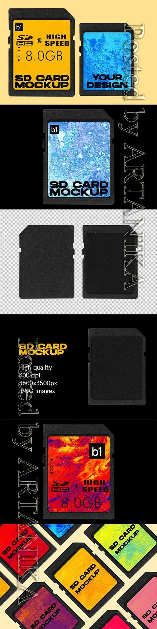 SD Memory Card Mockup