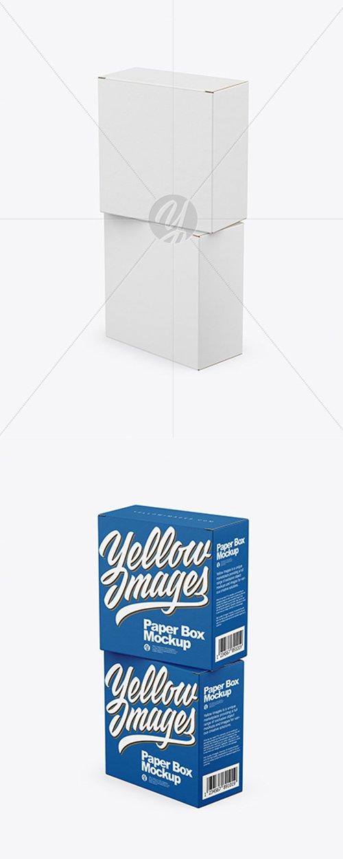 Two Paper Boxes Mockup 43000 TIF