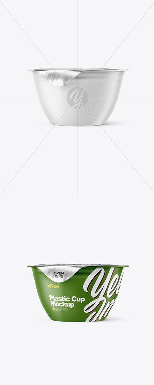 Matte Plastic Cup with Foil Lid Mockup 43116 TIF