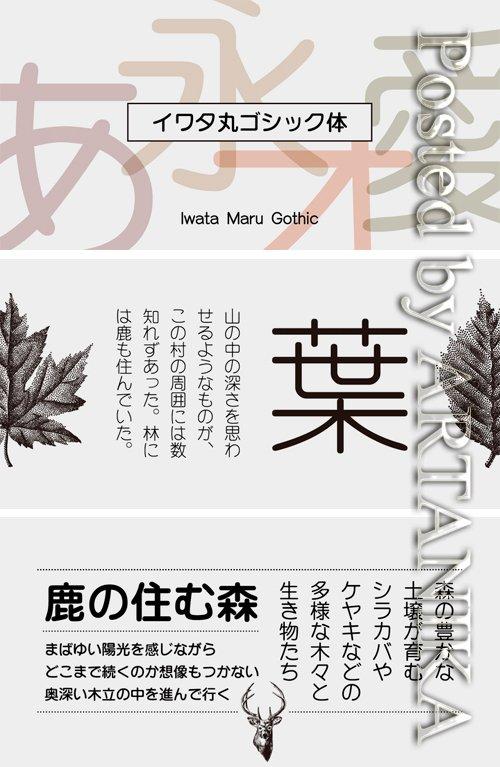 Iwata Maru Gothic Pro Font Family