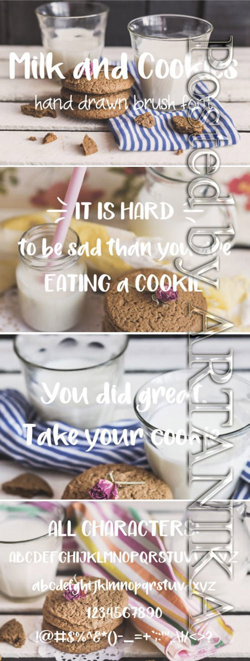 Milk and Cookies Brush Font