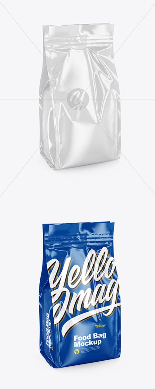 Glossy Food Bag Mockup 44148 TIF