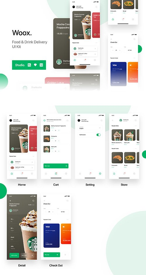 Woox - Food & Drink Delivexry UI Kit