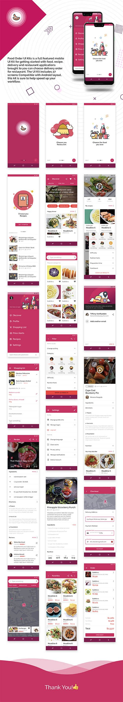 Food Order UI Kits