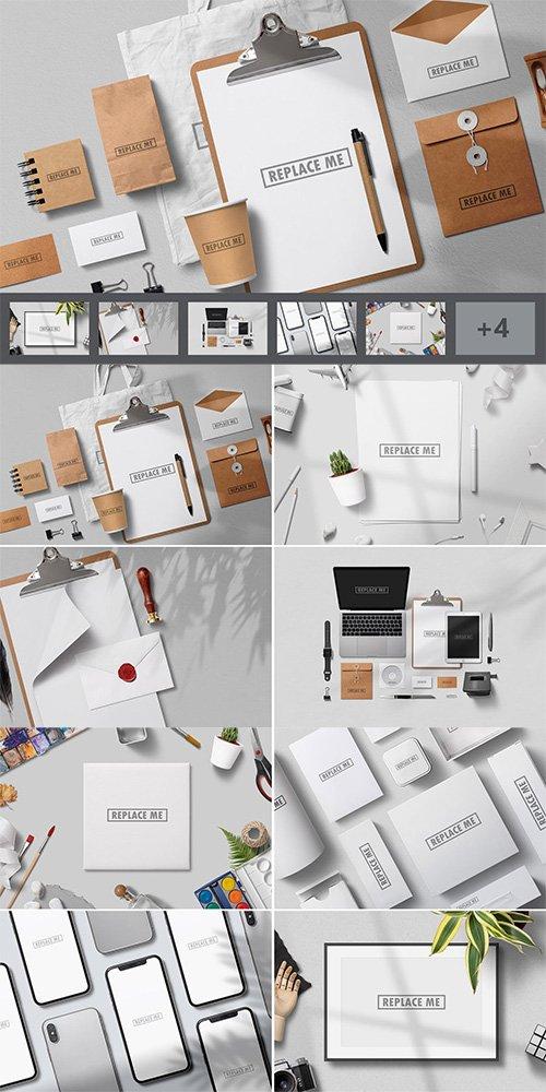 Art & Branding Mockups Vol.1 PSD