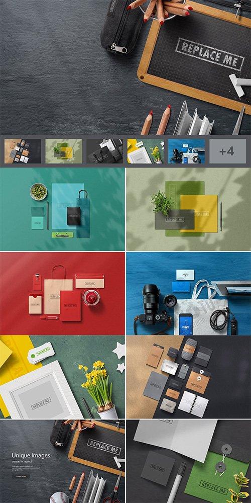Art & Branding Mockups Vol.3 PSD