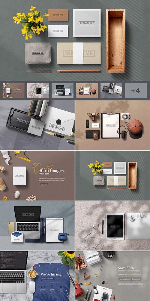Art & Branding Mockups Vol.2 PSD