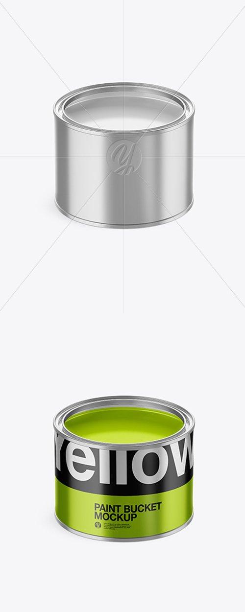 Opened Metallic Paint Bucket Mockup 42691 TIF