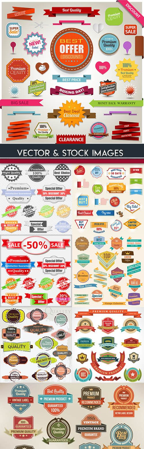 Vintage premium quality sale and label design element 8