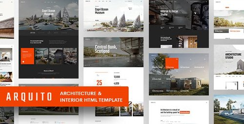 ThemeForest - Arquito - 3D Architecture Interior HTML Template (Update: 31 May 19) - 23754098