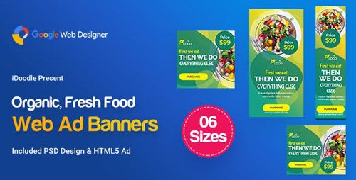 CodeCanyon - C55 - Organic, Fresh Food Banners GWD & PSD - 23909301