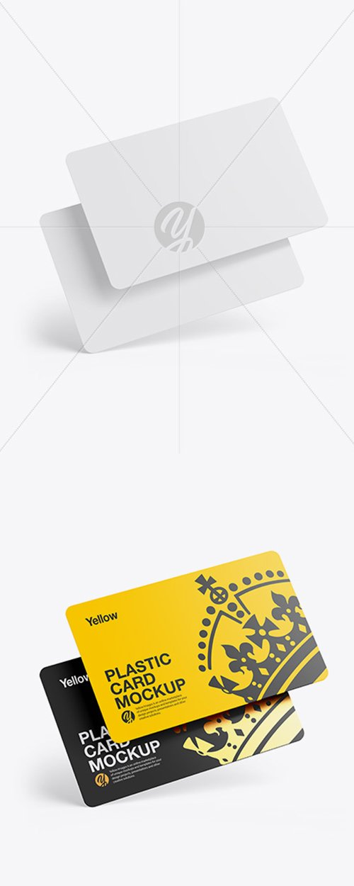 Two Plastic Cards Mockup 42836 TIF