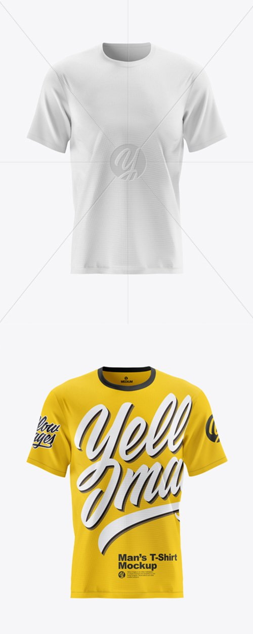 Mens Short Sleeve T-Shirt Mockup - Front View 42826 TIF