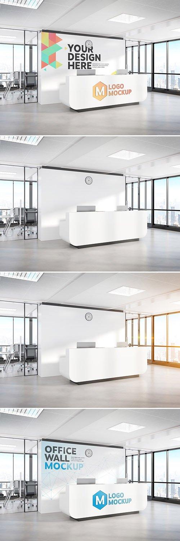 PSDT Reception Desk in Modern Office Mockup 267142015