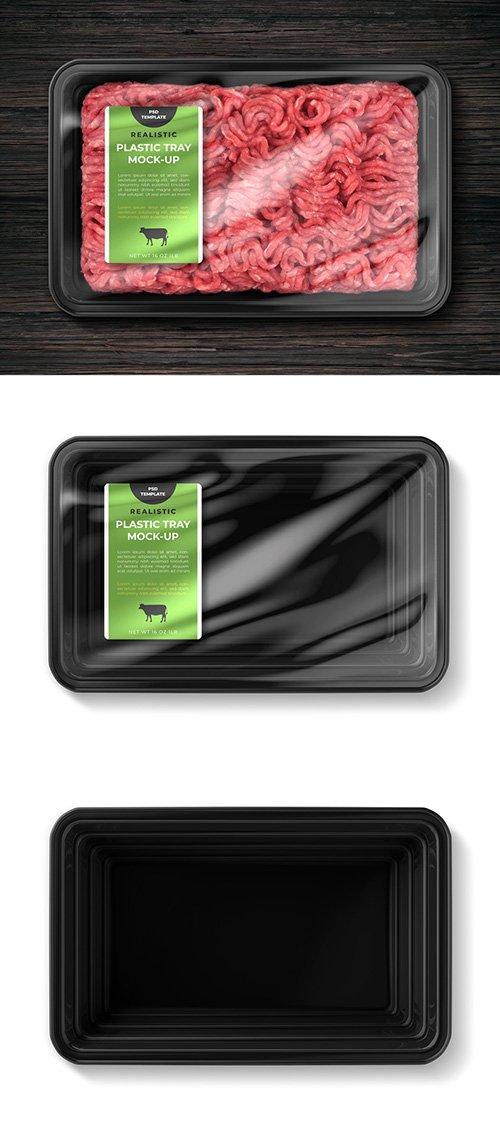 PSDT Plastic Food Tray Mockup 256531389