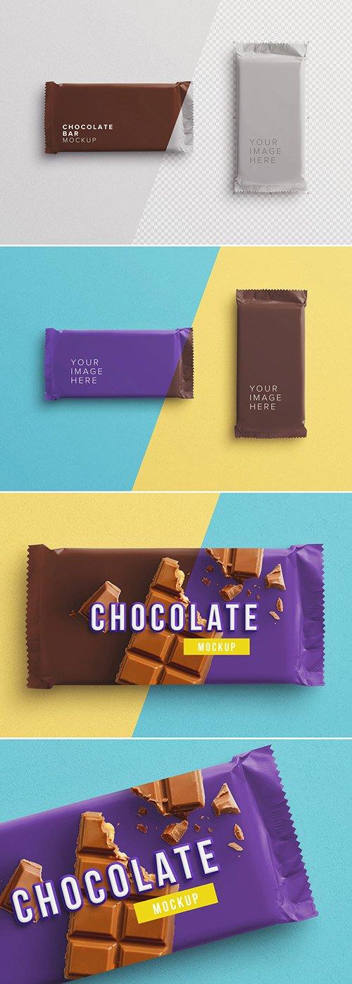 PSDT Chocolate Bar Wrapper Mockup 256522945
