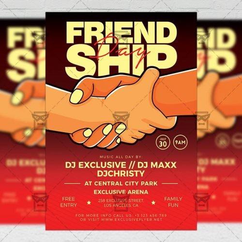PSD Club A5 Template - Friendship Day Celebration