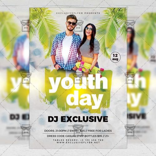 PSD Club A5 Template - Youth Day