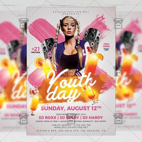 PSD Club A5 Template - International Youth Day
