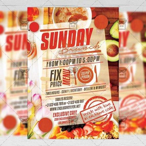 PSD Food A5 Template - Sunday Brunch