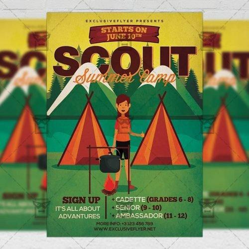 PSD Summer A5 Template - Scout Summer Camp