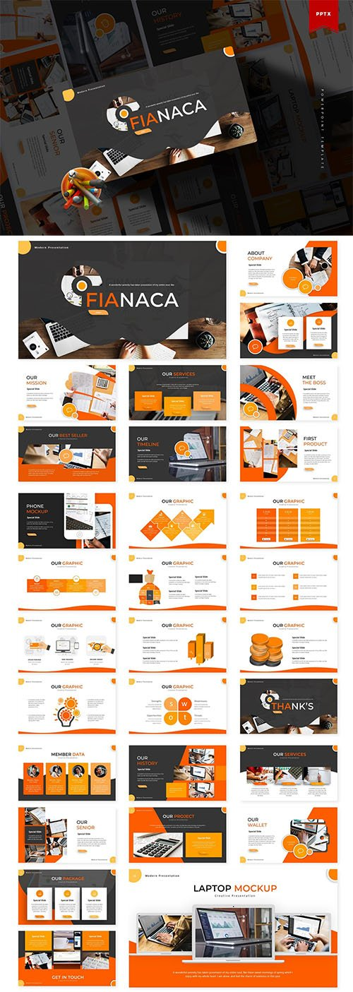 Fianaca | Powerpoint, Keynote and Google Slides Templates