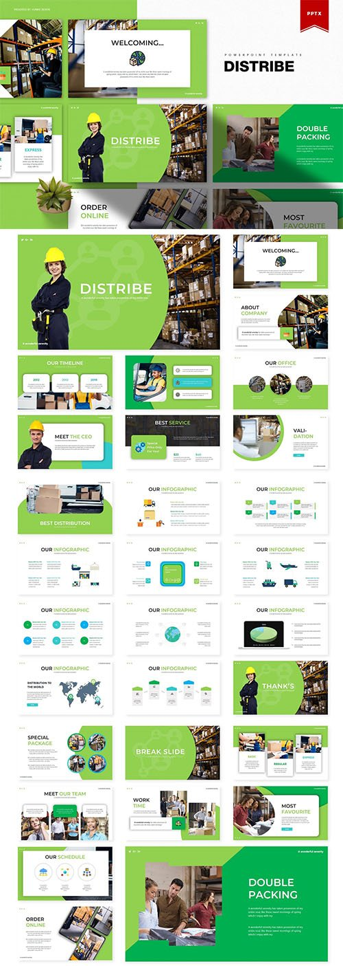 Distribe | Powerpoint, Keynote and Google Slides Templates