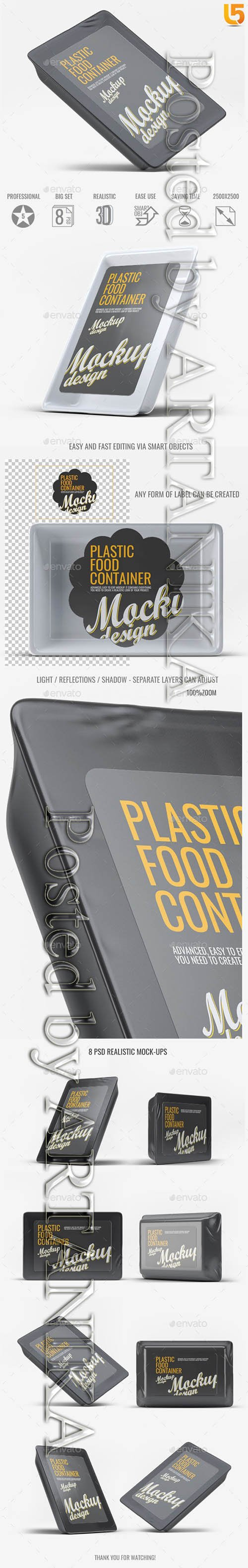 Plastic Food Tray Mock-Up 21792726