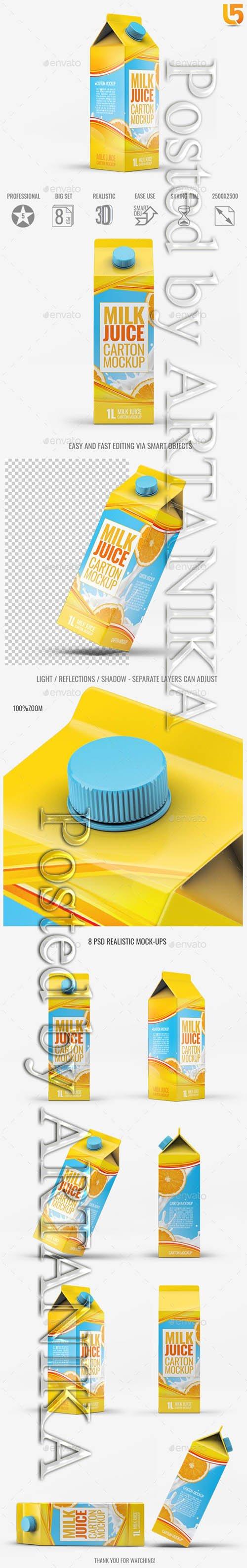 Milk or Juice Carton Mock-Up v3 21791427