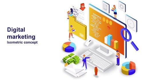 MA - Digital Marketing - Isometric Concept 208608