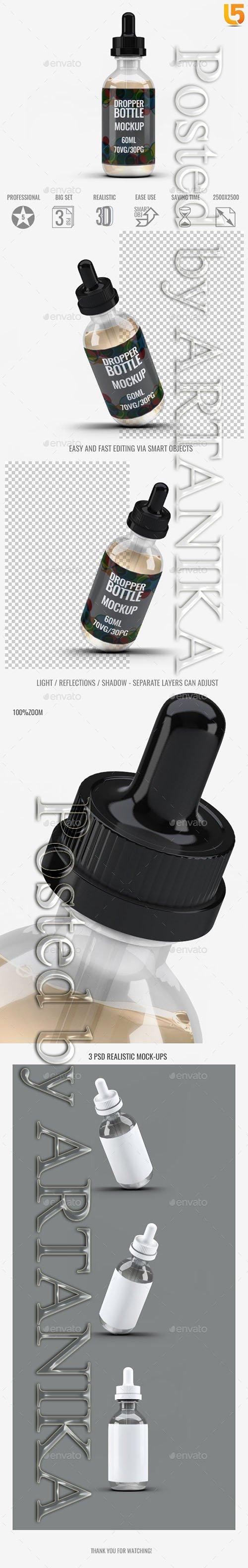 60ml Dropper Bottle Mock-Up 21789302