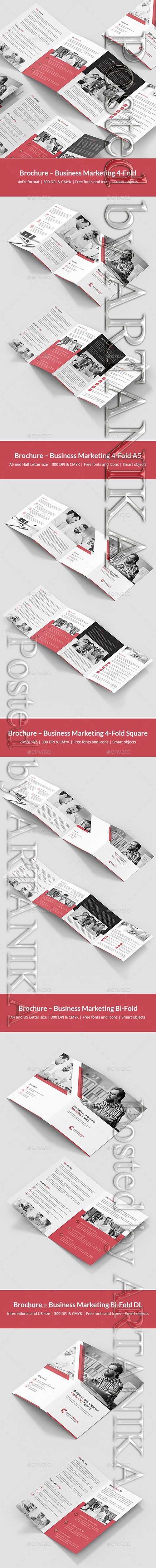 Business Marketing – Brochures Bundle Print Templates 10 in 1 21522205