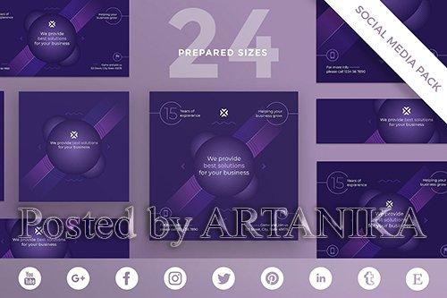 Marketing Agency Social Media Pack Template