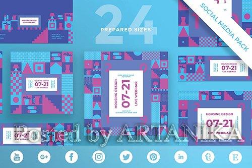 Housing Design Social Media Pack Template