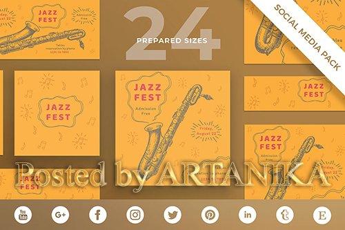 Jazz Festival Social Media Pack Template