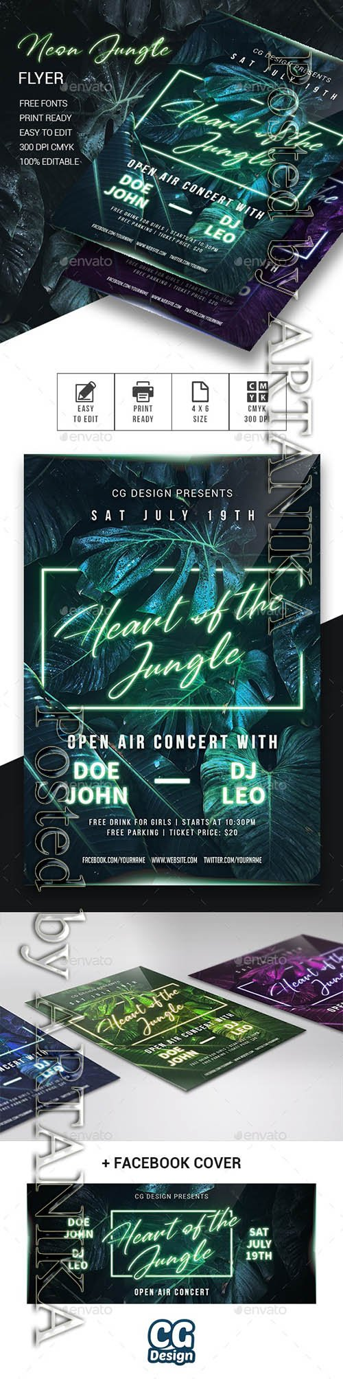 Neon Jungle Flyer 23969428