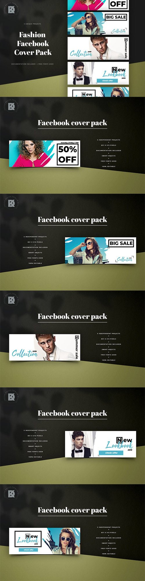 Fashion Facebook Cover Kit