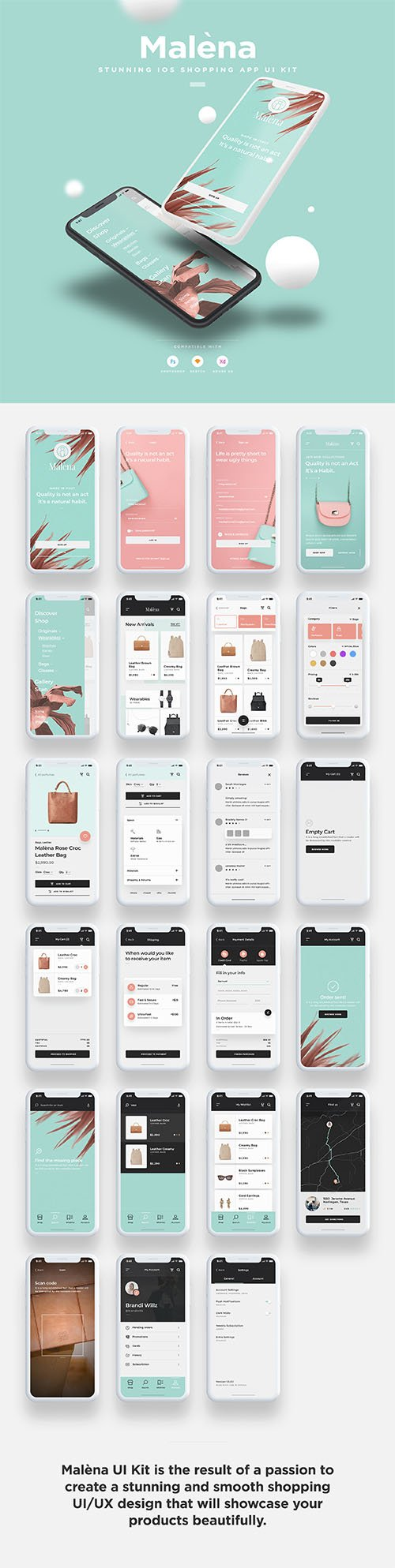 Malena iOS UI Kit